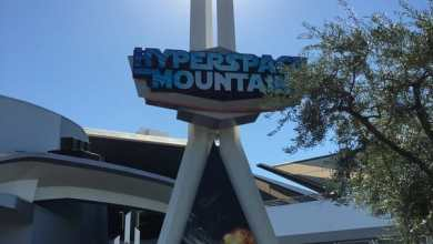 Hyperspace Mountain - Season of the Force: Hyperspace Mountain's sign is up!