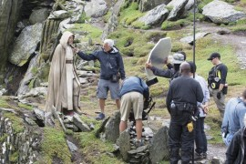image 99 - New behind-the-scenes shot of Luke Skywalker on the set of Star Wars: The Force Awakens!