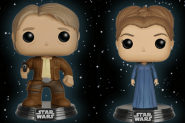 Han Leia Giveaway - Win One of TWO Sets of Star Wars: The Force Awakens Han & Leia Pops! from Funko!