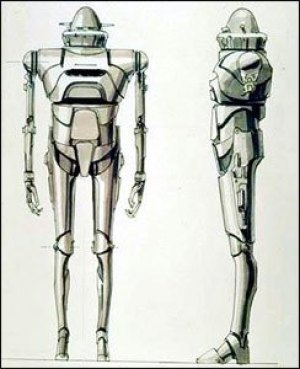 Ralph McQuarrie IG 88 - Rogue One: A Star Wars Story's new droid sidekick description & quick sketches