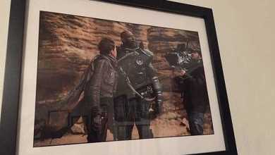 Photo of Rogue One: A Star Wars Story set photo autographed by Forest Whitaker up for auction!