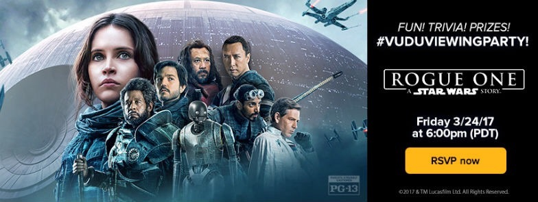 MakingStarWars.net and VUDU are giving away Rogue One: A Star Wars story digital redemption codes!