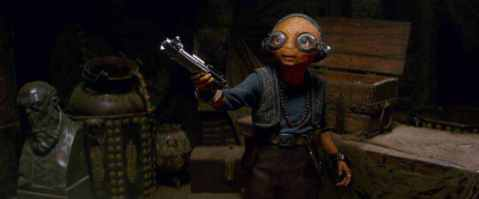 Maz with Lightsaber