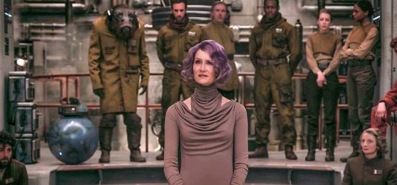 A new photo of Vice Admiral Amilyn Holdo from Star Wars: The Last Jedi