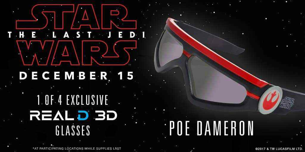 Real D 3 - Star Wars: The Last Jedi RealD 3D glasses are here!