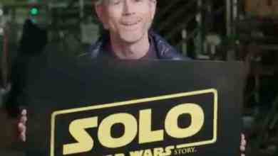 "Photo of Ron Howard announces ""Solo: A Star Wars Story"" title!"