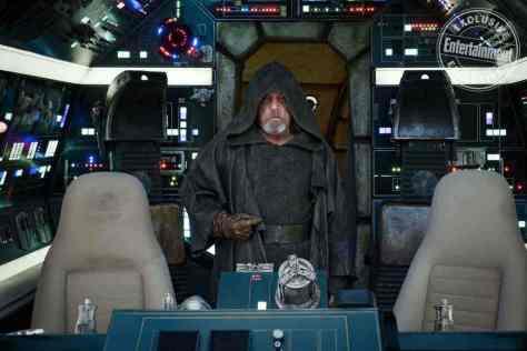 Mark Hamill on Luke Skywalker's return to the Falcon in Star Wars: The Last Jedi