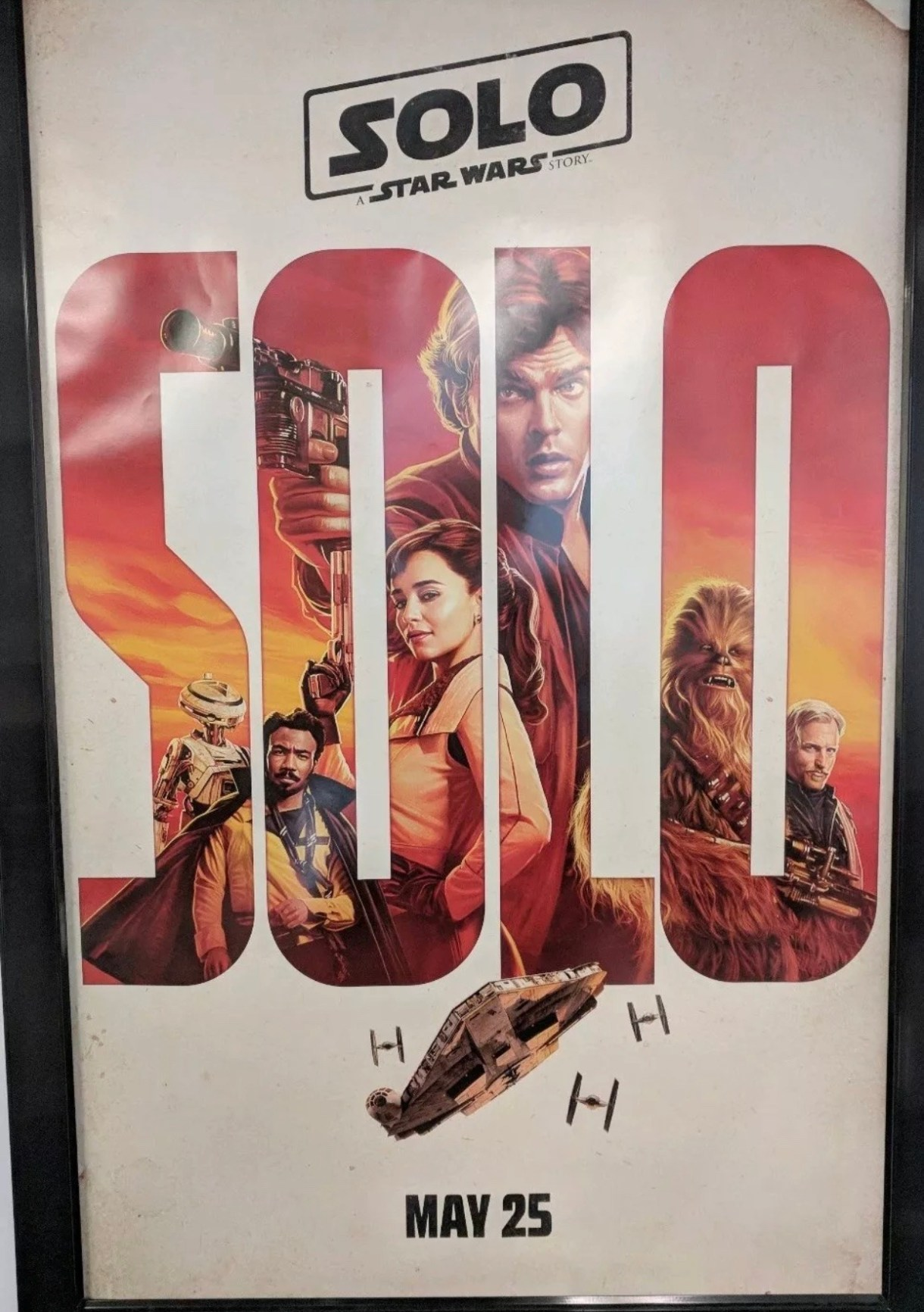 First Solo: A Star Wars Story theatrical poster hitting theaters!