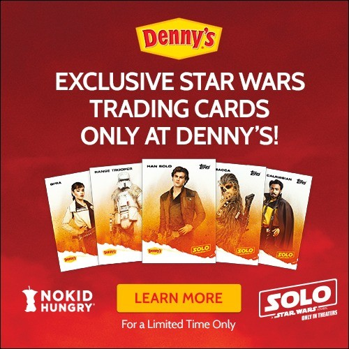 Help fight hunger with Denny's, No Kid Hungry, and Solo: A Star Wars Story