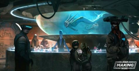 Star Wars: Galaxy's Edge and what ever happened to the cantina's aquarium?