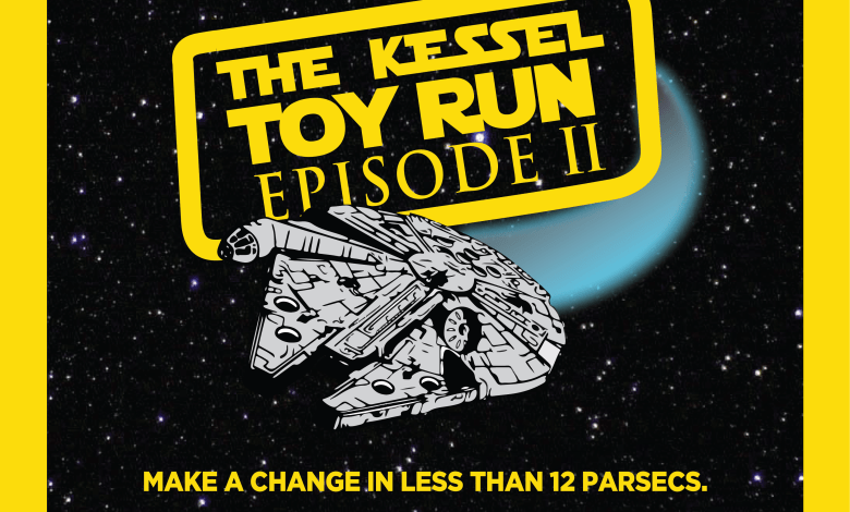 "Photo of ""The Kessel Toy Run"" is back! Star Wars fans we need your help this year. Donate unopened Star Wars toys for hospitalized children!"