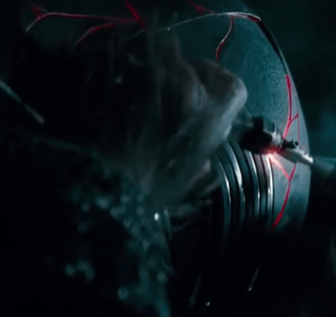 """Kylo's Mask in the """"Forge."""""""