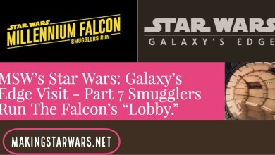 "Photo of MSW's Star Wars: Galaxy's Edge Visit – Part 7 Smugglers Run The Falcon's ""Lobby."""