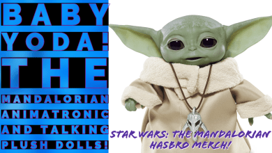 Photo of Hasbro's Star Wars: The Mandalorian Baby Yoda merch videos, pictures, and price points! Plus the Darksaber and Ashoka Tano figures!