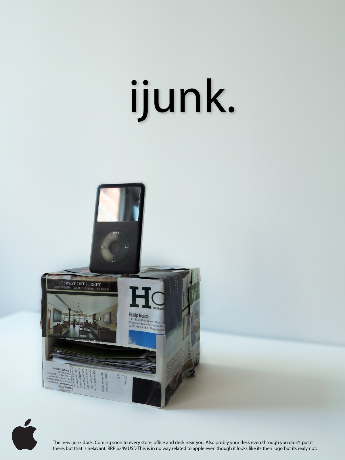 Junk-Mail Phone Case/Dock by Richard