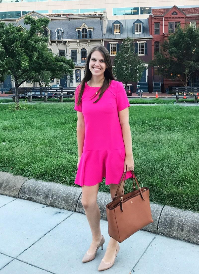 hot pink work dress
