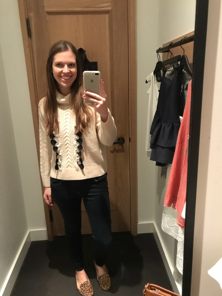 jcrew embellished cable sweater