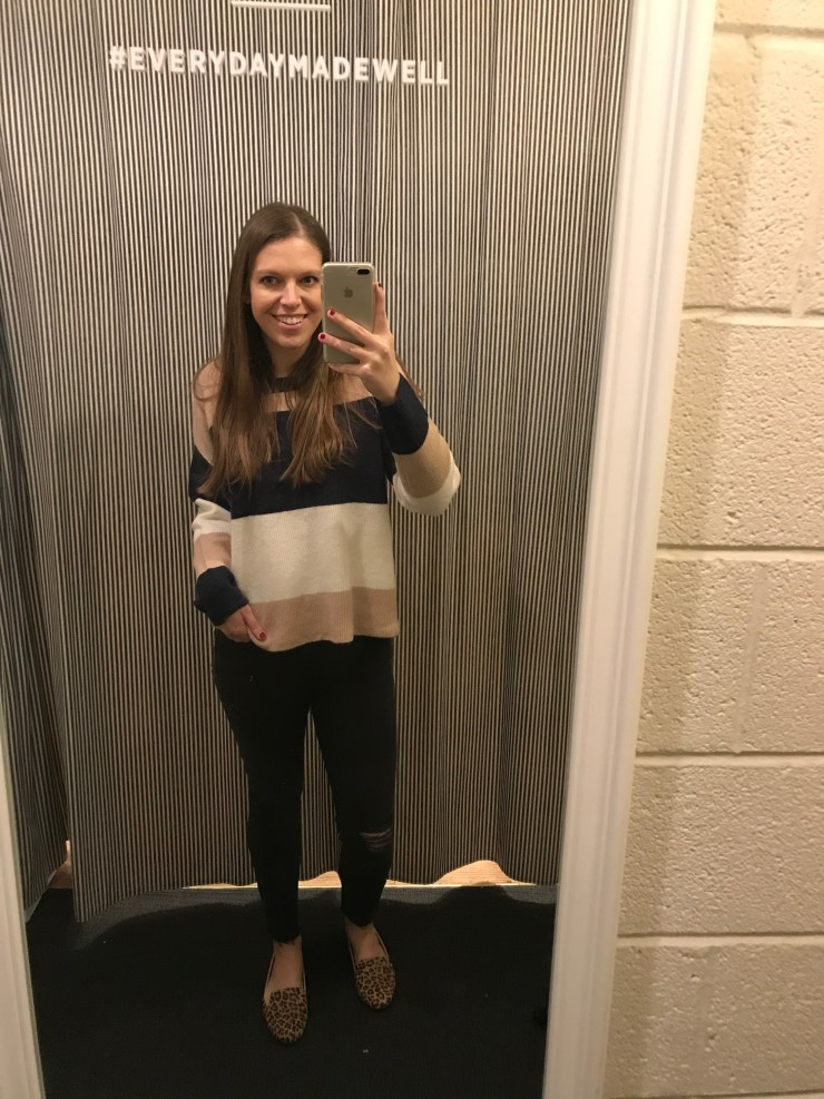 Madewell sycamore stripe pullover sweater