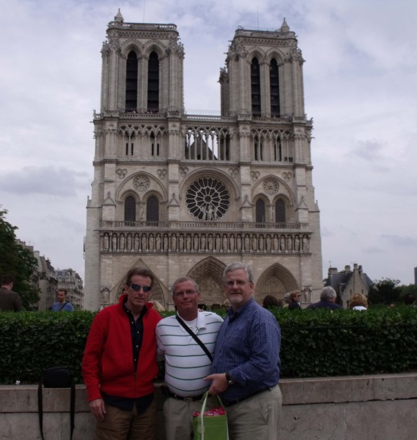 The tri-color- Warren, David, and I with Notre Dame