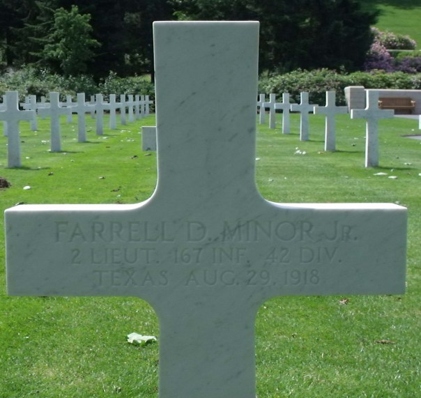 One of over two thousand crosses at Aisne-Marne American Cemetery