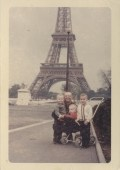 The three of us and dad - Paris 1966