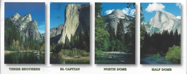 a postcard from Yosemite National Park, courtesy Tonette! Thanks