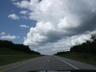 unique clouds, forging our way to the lake
