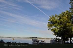 fog on Lake Margrethe - my second shot - Nikon
