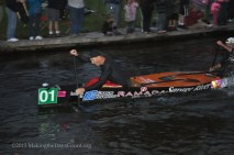 the second canoe past us and eventual winner