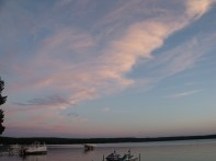 Monday night clouds over the lake