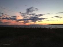 dune grasses, the lake, the sky