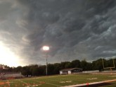 looking northwest, storm clouds