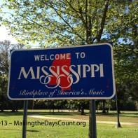 welcome, road stop south of Memphis