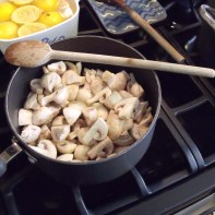 sauteing the 'shrooms