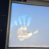 my frosty handprint