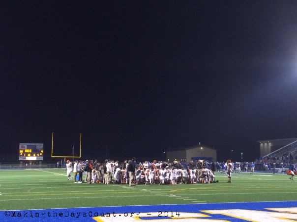 the end of game discussion - the South end of the field