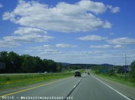 north through the rolling hills and forests of Wisonsin
