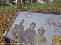 a plaque honoring the African-American troops who served in the Union Army
