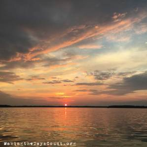 Friday night's sunset