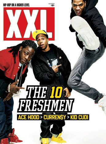 XXL December 2008 cover - Ace Hood, Currensy & Kid Cudi