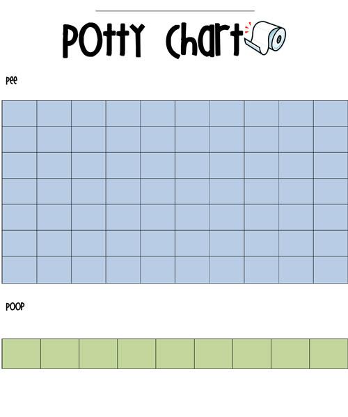 Potty Training Sticker Chart FREE Printable