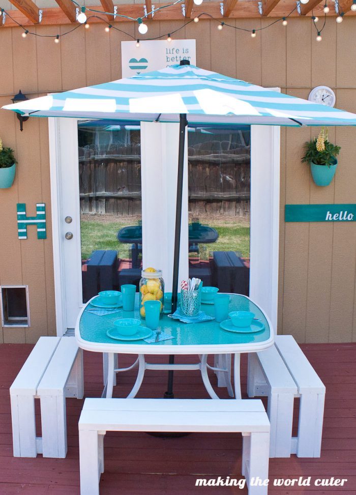 perfect glass patio table makeover