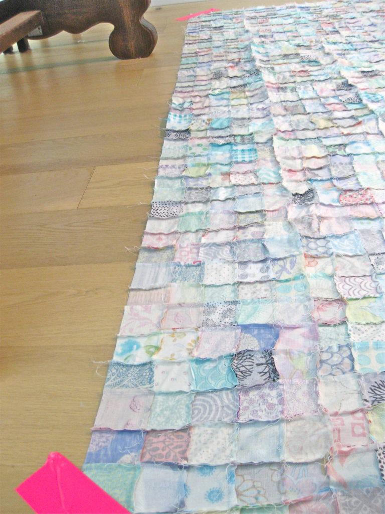DIY Queen sized chenille quilt
