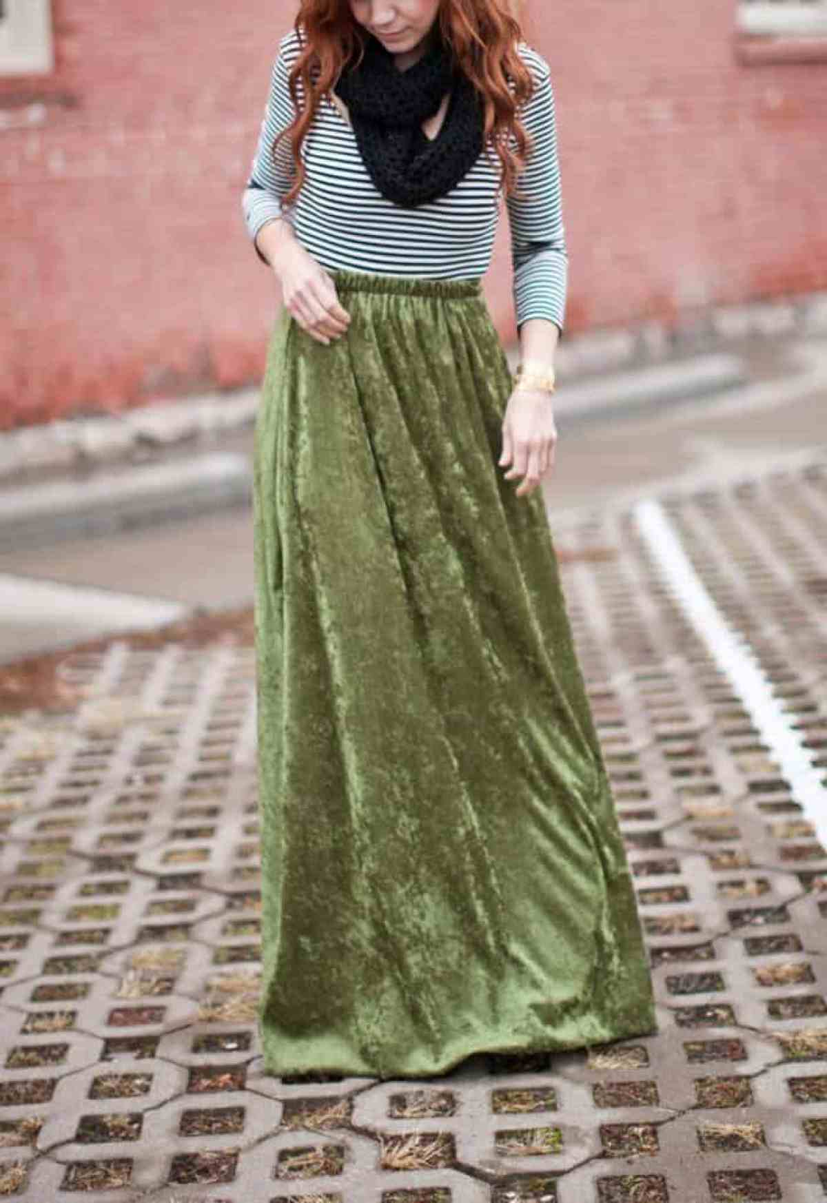 10 Free DIY Skirt Sewing Patterns - Wedding Guest Friendly Skirts! - How to Sew a Maxi Skirt (With An Elastic Waist) - from A Beautiful Mess