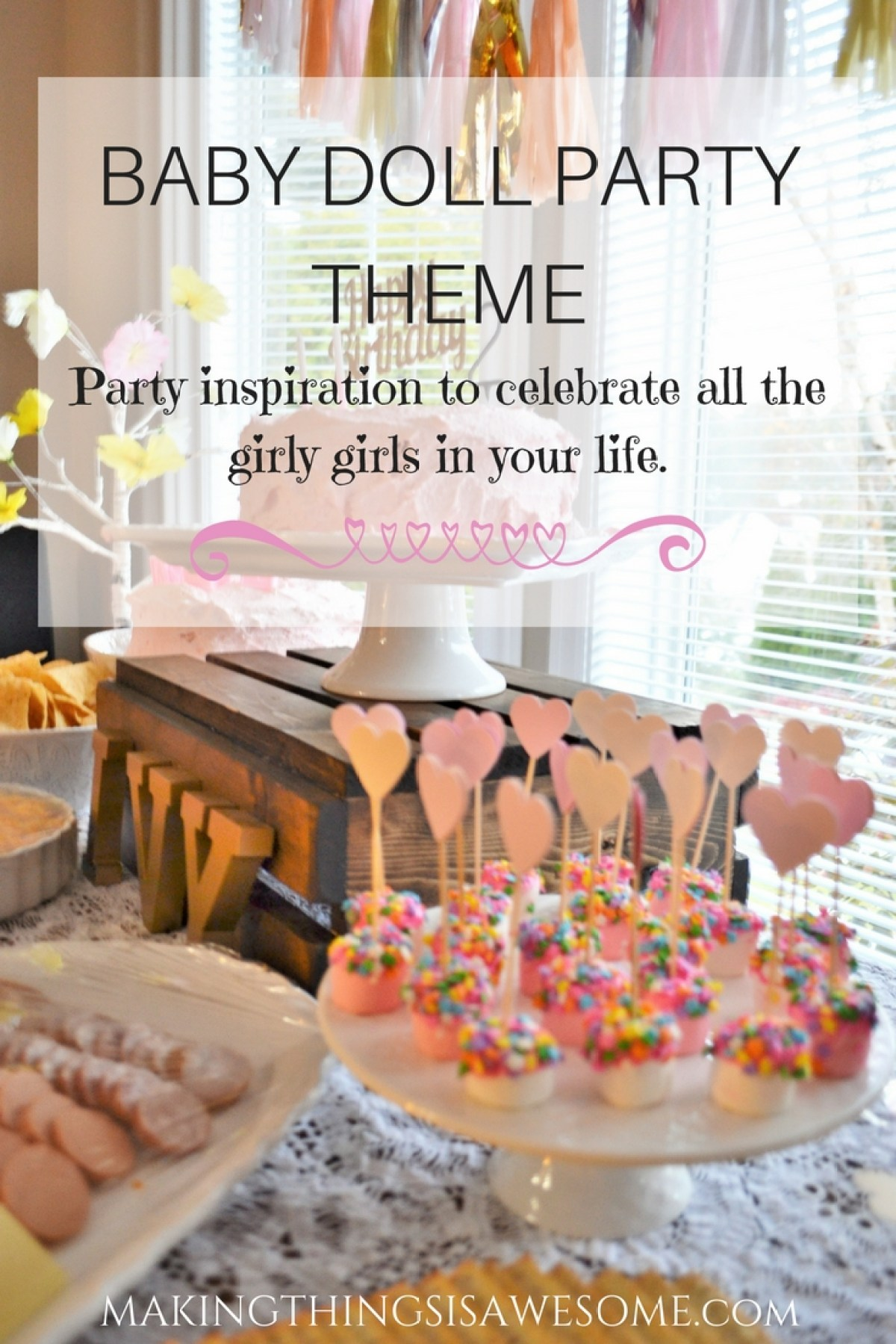 Baby Doll Party Theme - pin