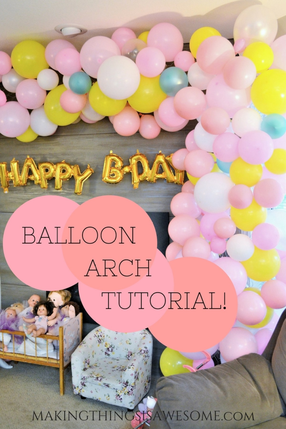 Balloon Arch Tutorial - pin