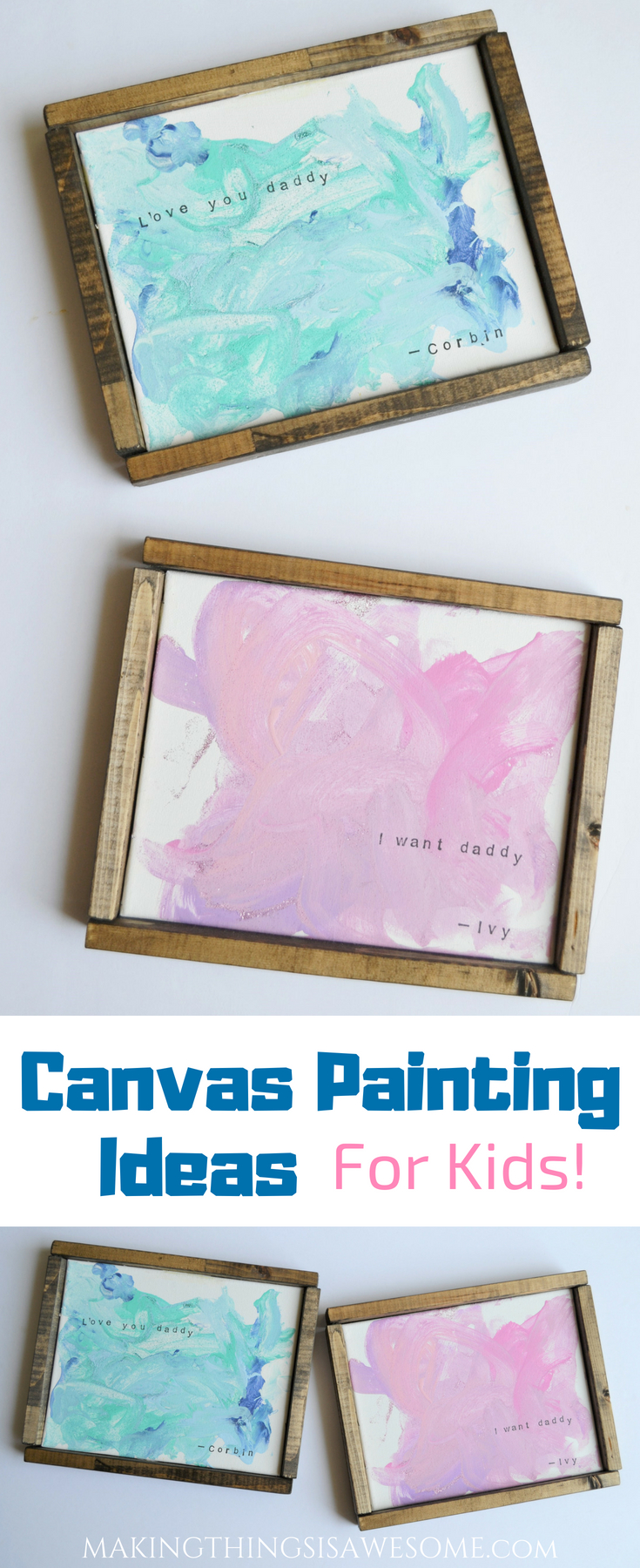 Canvas Painting Ideas For Kids With Easy Diy Canvas Frames Making Things Is Awesome