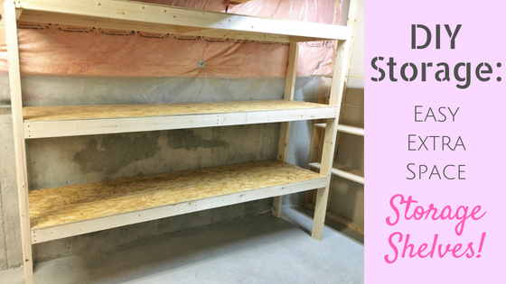 DIY Storage: Easy Extra Space Storage Shelves