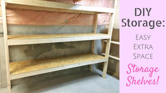 DIY Storage: Easy Extra Space Storage Shelves