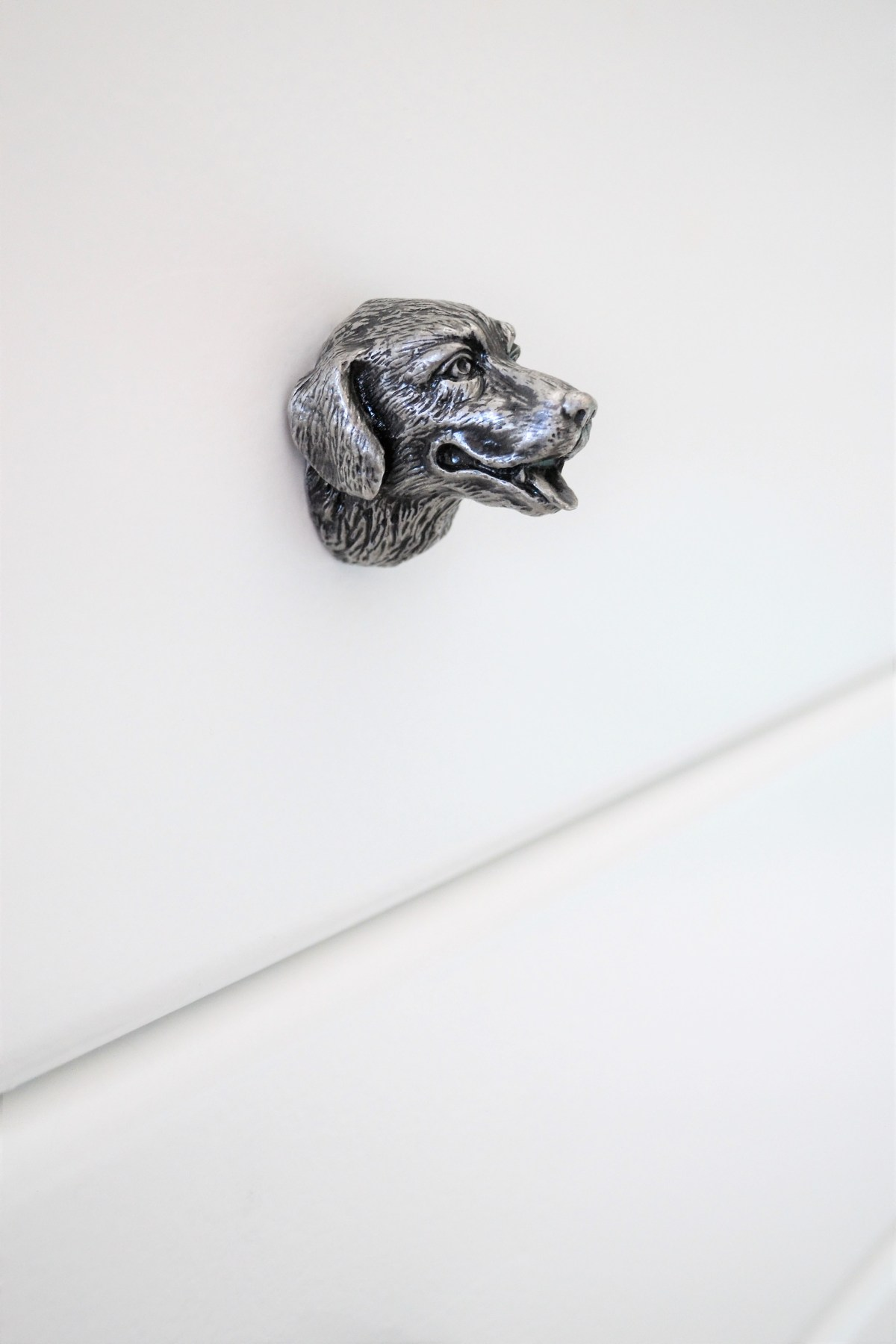 How to decorate your kids room with silver accents - puppy dresser pulls